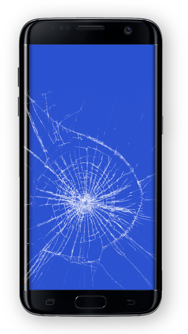 Cracked Samsung phone